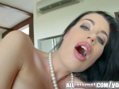 Picture Allinternal April Blue gushes cum out of her...