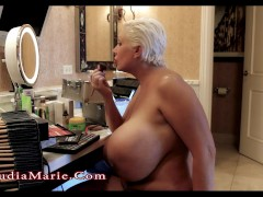 Picture Claudia Marie Huge Saggy Fake Tits and Fat A...