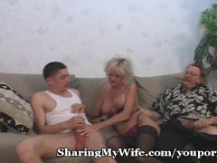 Picture Mature Couple Swings With Young Cock