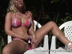 Picture Karlie Simon is enjoying the sunshine in her...