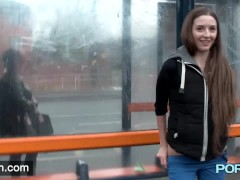 Picture British skinny Leyla flashing in London