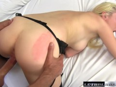 Picture Horny Roxy Nicole wears moms lingerie and fu...