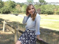 Picture Shy Young Girl 18+ does her first porn casti...