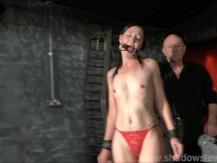 Picture Restrained milf Lolanis amateur bdsm and tied tit...