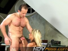 Picture Blonde modell Christina fucks with camera man.mp4