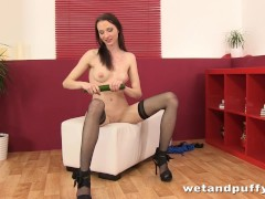Picture Banana smoothie inside her Young Girl 18+ pu...
