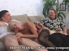 Picture Mature Swinger Shared With Young Cock