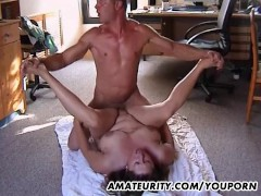 Picture Chubby amateur Stepmom gets fucked in all po...
