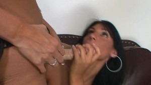 fucking her strap-on