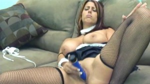 big titted bunny plays with her bunny twat