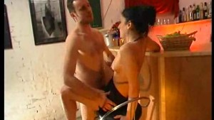Sex on the bar stool at the bar