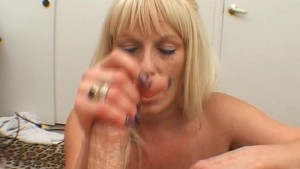 LUCY TAKES CUM ON HER BIG TITTIES
