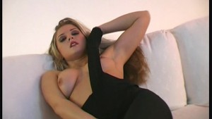 Silvie in fullbody nylon showing pussy