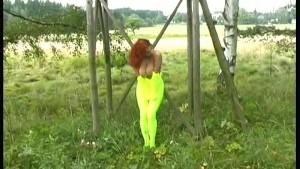 Outdoor spandex fun with Jana