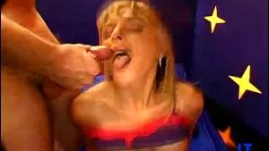 Pornstar Sucks Two Cocks