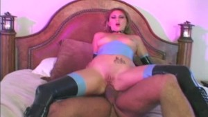Latex boots chick deeply ass fucked