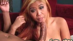 Licking Black Ass Asia gives Rimjob 2 BIG facial