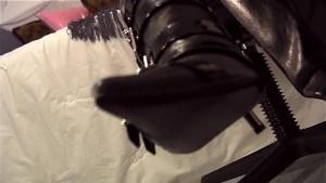 closeup pantyhose ripping