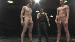 Hot male sex wrestling!