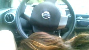My ex-GF loves to suck my cock in a car