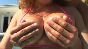 Allie Foster gets her busty self pummeled!