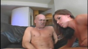 He gets into her ass and onto her face