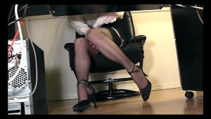 Under desk voyeur cam masturbation