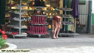 Hot public nudity with red lola