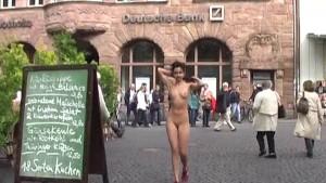 Jenny - Slim babe has fun in public