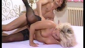 Long haired blonde beauty gives him the ride of his life