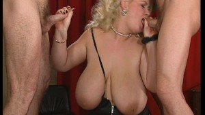 Massive Babe and Two Cocks - D