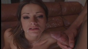 English lady and a mouth full of cum