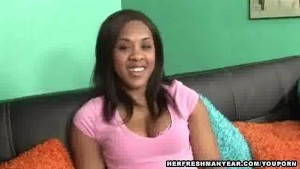 cute black girl fucked in POV style