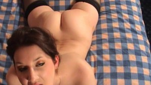Posh British amateur does oral