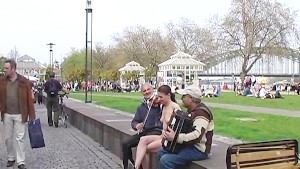 Tanja - Naked Babe Has Fun In Public Streets