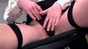 Closeup masturbation in lingerie