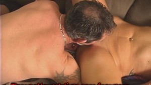Double Teamed Housewife gets a LOAD of CUM