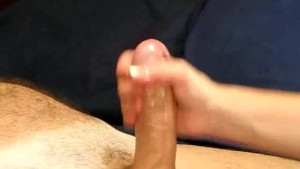 Lubed Cock Stroked Until It Spurts!