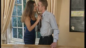 Couple get busy on the table