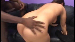 Pretty Brunette Destroyed By Black Monster Cock