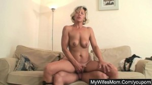 Sexy mother in law gets nailed