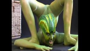 Flexi Jenny transformed into a reptile