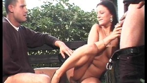 Park bench pussy pounding