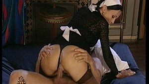 Maid service with a special treat