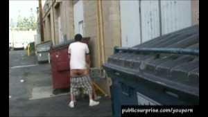 Outdoor Sex Behind A Trash Container