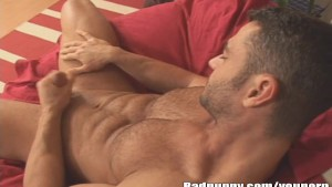 Hairy Stud Jerking His Tool