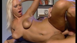She has two hole but three dicks get in there