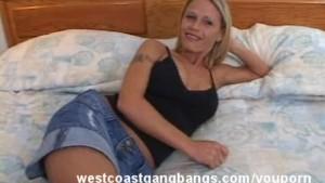 Hot Mom Fucked hard in Bed Gangbang