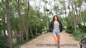 brunette girl masturbation video casting