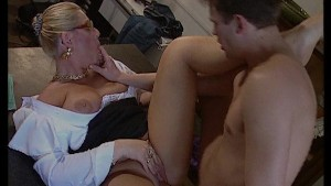 Uptight boss gets her pussy fucked and face creamed